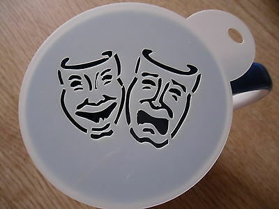 100mm Theatre Mask Craft And Coffee Stencil • 4£