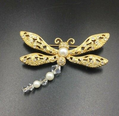 £90.59 • Buy New Swarovski Crystal Dragonfly Brooch, Insect With Wings Jewelry Pin, With Tag