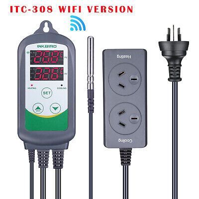 AU62.99 • Buy Inkbird ITC-308 Wifi Digital Temperature Controller Thermostat For Heating Mats