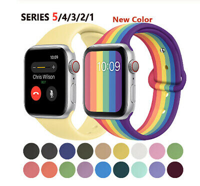 AU9.99 • Buy Replacement Wrist Silicone Sport Band Strap For Apple Watch Series 5 4 3 2 1 AU