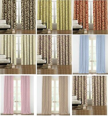 £11.95 • Buy Thermal Blackout Curtains Pair Ready Made Pencil Pleat Top Free Hooks All Sizes