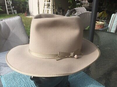 eb337ba8db01f Vintage New 1940s OPEN ROAD Stetson SilverBelly Wide Brim Fedora Style 7-1 8