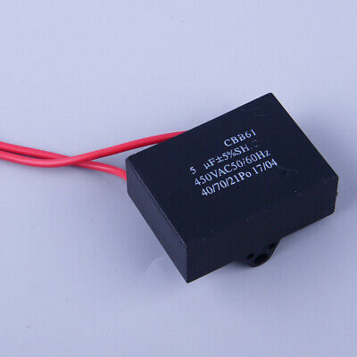 CBB61 Appliance Motor Capacitor 5uf 2 Wire 450VAC 50/60Hz  Fit For Ceiling Fan • 2.99£