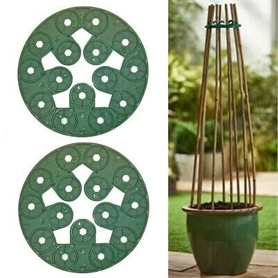 Pack Of 2 Garden Cane Holders Ideal For Sweet Pea And Runner Bean Support Holder • 4.99£