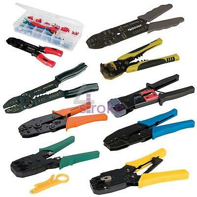 Crimping Stripping Tool Set Ratchet Crimper Cable Wire Electrical Telecoms • 13.11£