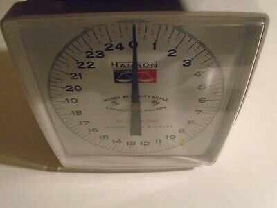 Vintage Hanson Model 40 Kitchen Produce Utility Scale 25 Pd Capacity Made In USA • 10.22£
