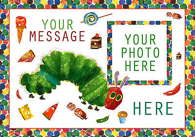 The Very Hungry Caterpillar Personalised Cake Topper A4 Add Photo&message Icing • 4.95£