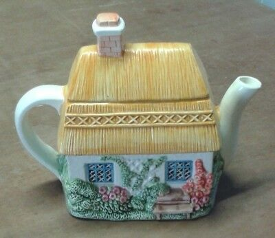 Summer Cottage From The Village Teapot Collectables Designed By Annie Rowe.  A6 • 14.99£