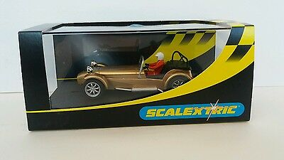 Scalextric Special Edition  Caterham 7 Gold • 75£