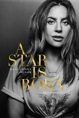 LADY GAGA A STAR IS BORN MOVIE POSTER   A4 To A0   E094 • 5.99£
