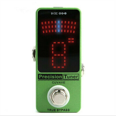 $ CDN35.76 • Buy Stage Pedal Tuner For Chromatic Guitar Bass Precision LED Display True Bypass
