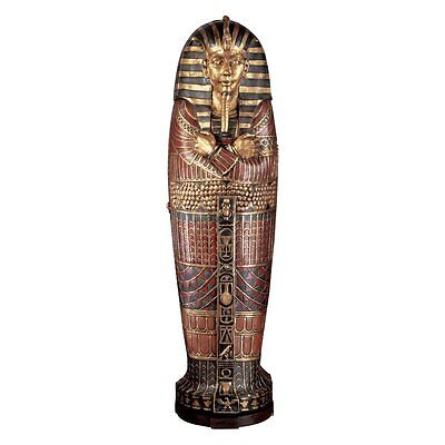 £1073.80 • Buy FY1059 - King Tutankhamen's Life-Size Sarcophagus Cabinet -Over 6' Tall! New!