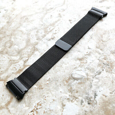 $ CDN38.74 • Buy Modern Black Color Adjustable Milanese Loop Mesh Band Strap For Fitbit Ionic