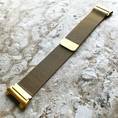 $ CDN38.74 • Buy Modern Gold Color Adjustable Milanese Loop Mesh Band Strap For Fitbit Ionic