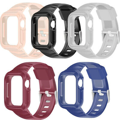 $ CDN13.32 • Buy For AppleWatch Series 4 40/44mm Armored Shockproof Cover Case + Band Strap Set