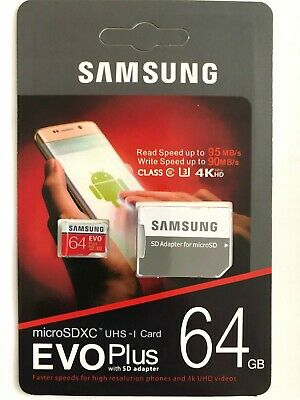 $12.95 • Buy REAL Samsung 64GB Micro SD SDXC Class10 U3 Memory Card For Android Phone/Tablets