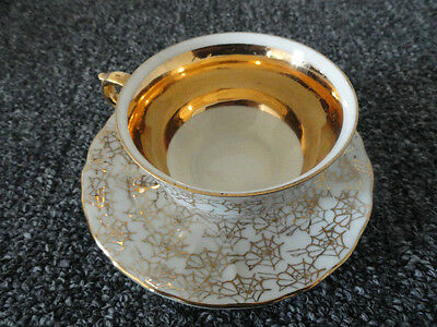 $6 • Buy Chechoslovakia M Z Bone China Cup & Saucer White Gold Trim Good Condition