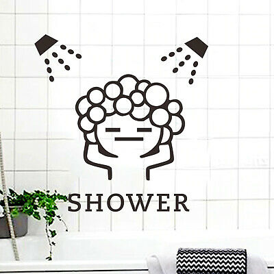 Baby Love Shower Bubble Wall Vinyl Stickers For Bathroom Sliding Door Waterproof • 1.99£
