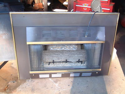 $225 • Buy Fire Logs Gas Stove Heater Fireplace Natural Gas, 29000 BTU Unvented With Blower