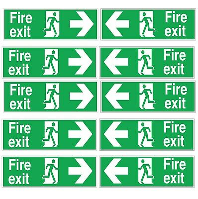 Fire Exit Sticker Sign Emergency Escape Fire Drill • 9.99£