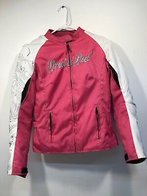 Street And Steel Women's Pink Armored Motorcycle Jacket With Liner Size Small • 79$