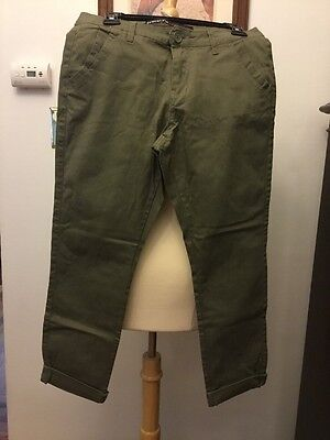 $22.99 • Buy Free Style Revolution Size 7 Army Green Pants New