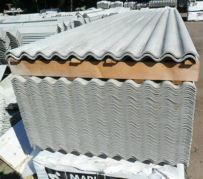 £45 • Buy 3 Inch Corrugated, Fibre-Cement Roofing Sheets, Rooflights, Ridges, Fixings Ect.