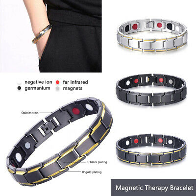 $7.99 • Buy Men Women Therapeutic Energy Healing Magnetic Bracelet Therapy Arthritis Hot!
