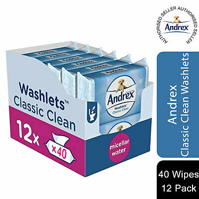 View Details Andrex Washlets Classic Clean Flushable Toilet Wipes 12/24 Packs Of 40 Wipes • 14.99£