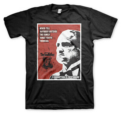 The Godfather Don Vito Corleone Corruption Official Tee T-Shirt Mens • 14.99£