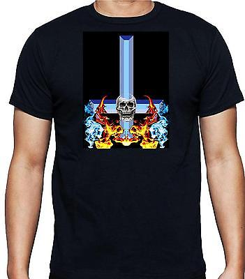 £12.99 • Buy INVERTED CROSS And SKULL T Shirt 100% Cotton Great For Bikers Events FREE UK P&P