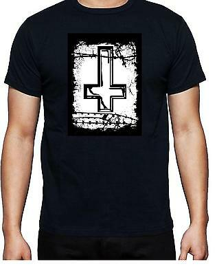 £12.99 • Buy INVERTED CROSS T Shirt 100% Cotton Great For Bikers Events FREE UK P&P
