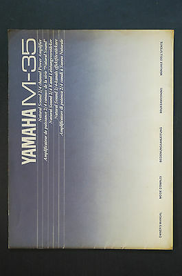 AU28.17 • Buy Yamaha M-35 Power Amplifier Original Manual/User Manual Top Zust