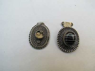 $ CDN32.17 • Buy Vintage 925 Silver Jewelry Lots From Israel 50's, Pendents With Stone Israeliana