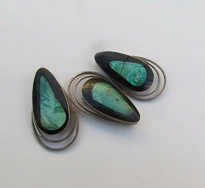 $ CDN152.24 • Buy Vintage 925 Silver Jewelry Lots From Israel 50's, With Eilat Stone 3pc