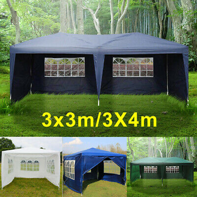 £63.23 • Buy New Party Tent Outdoor PE Garden Gazebo Marquee Canopy Awning With Full Sidewall