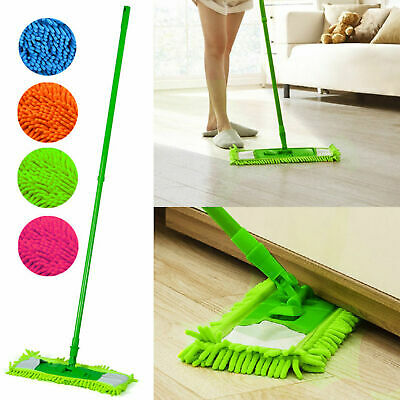 Microfibre Mop Extendable Floor Brush Telescopic Duster Cleaning Sweeping Head • 12.50£