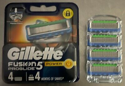 AU16.75 • Buy  Gillette Fusion 5 Proglide Power Razor Blades New Single 4 Pack Made In Germany