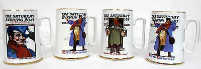 $ CDN16.99 • Buy Lot Of 4 The Saturday Evening Post Coffee Mugs Norman Rockwell Christmas Coll...
