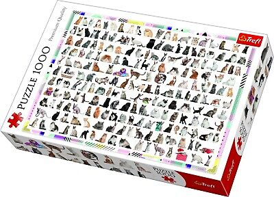 £9.99 • Buy Trefl 1000 Piece Adult Large 208 Cats Breeds Cute Cuddly Photo Jigsaw Puzzle NEW