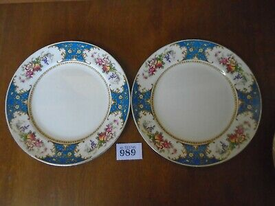 Sampson Bridgwood / Lawleys OLD CHELSEA Blue - 2 X 22.5 Cm Dessert / Salad Plate • 8.95£