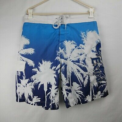 98d5141f68 CORONA Beer Swim Trunks Mesh Lined Board Shorts Embroidered White Blue Men's  2XL • 18.00$