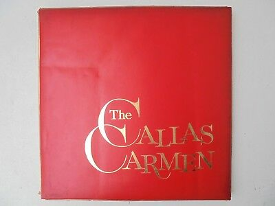 The Callas Carmen Bizet Gedda Pretre HMV SDAN 143-145 White Angel Red Nipper NM • 400£