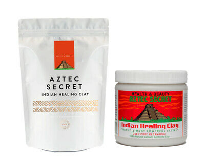 AU15.35 • Buy Aztec Indian Secret Healing Calcium Bentonite Clay Face Mask 1lb (10% FREE!)