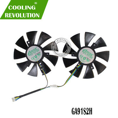 $ CDN25.71 • Buy 2pcs/Lot GA91S2H 12V 0.35A Fan For ZOTAC GTX1070 MINI Cooler Cooling Fan