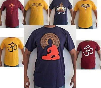 Cotton Summer  T-shirt Top Good Quality Om, Buddha, Eyes, Ganesha  • 11.99£