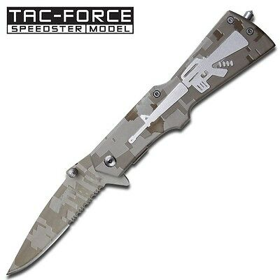$ CDN18.82 • Buy Tac Force Spring Assisted Semi-Automatic M-16 Style Gun Folding Pocket Knife NEW