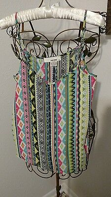 $2.99 • Buy Sans Souci Multi-Colored Tank ~ Size M