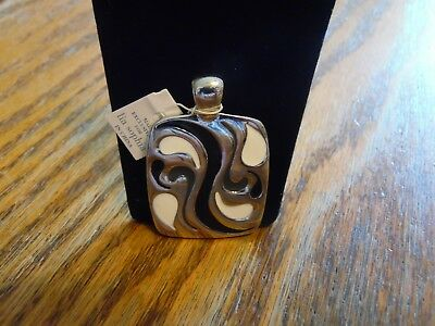 $ CDN12.55 • Buy Lia Sophia Silver, Black & White  All That Jazz  Pendant/Slide NWT