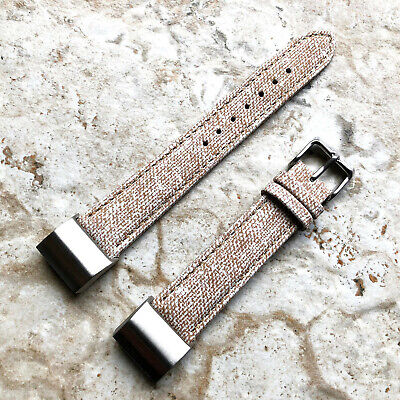 AU46.38 • Buy JW1-CH2 Soft Leather Jeans Band Strap With Adapters For Fitbit Charge 2